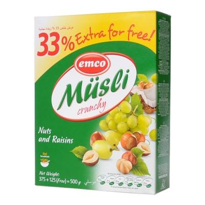 Emco Nuts&Raisins Crunchy Musli 375g