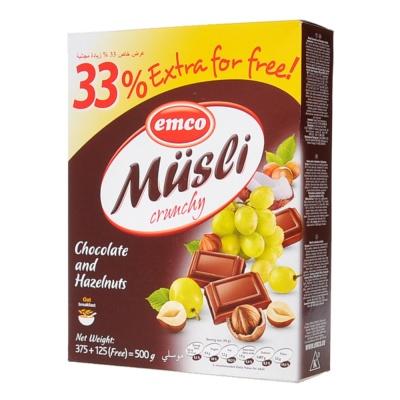 Emco Chocolate&Hazel Oats 375g