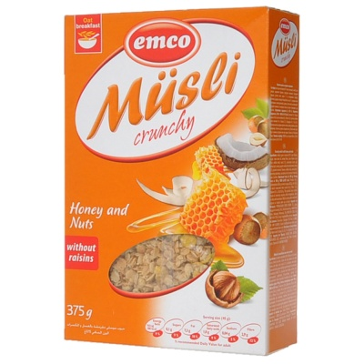 Emco Musci Crunchy Honey and Nuts 375g