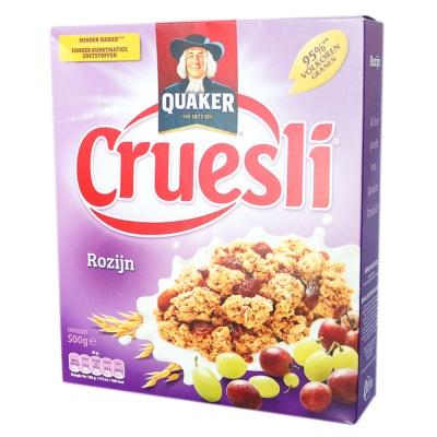 Quaker Cruesli Raisin Cereal Instant Oatmeal 500g