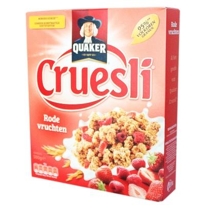 Quaker Cruesli Raspberry Strawberry Cereal Instant Oatmeal 500g