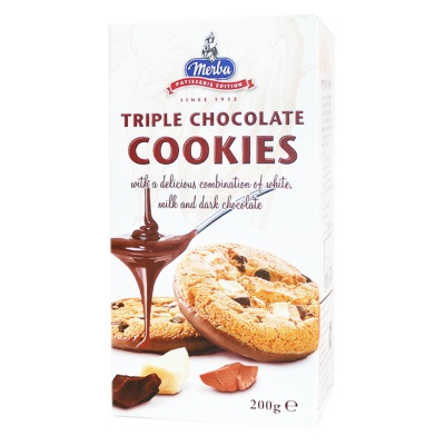 Merba Triple Chocolate Cookies 200g