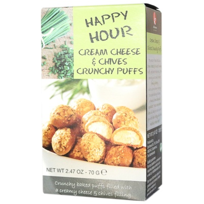 Happy Hour Cream Cheese&Chives Crunchy Puffs 70g