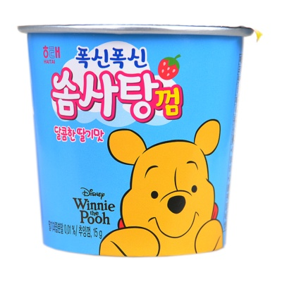 Haitai Winnie the Pooh Marshmallow Chewing Gum (Strawberry Flavor) 15g