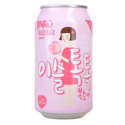 Jinro Toktok Peach Flavor Soju 355ml