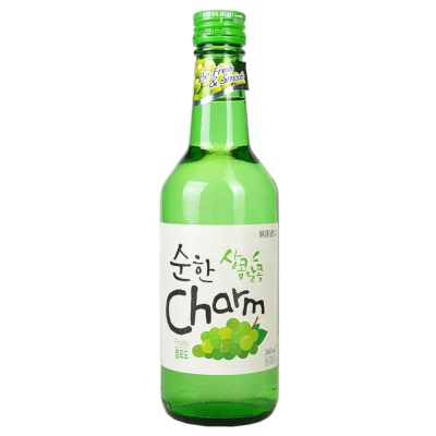 Charm Compound Soju Green grapes Flavor 360ml
