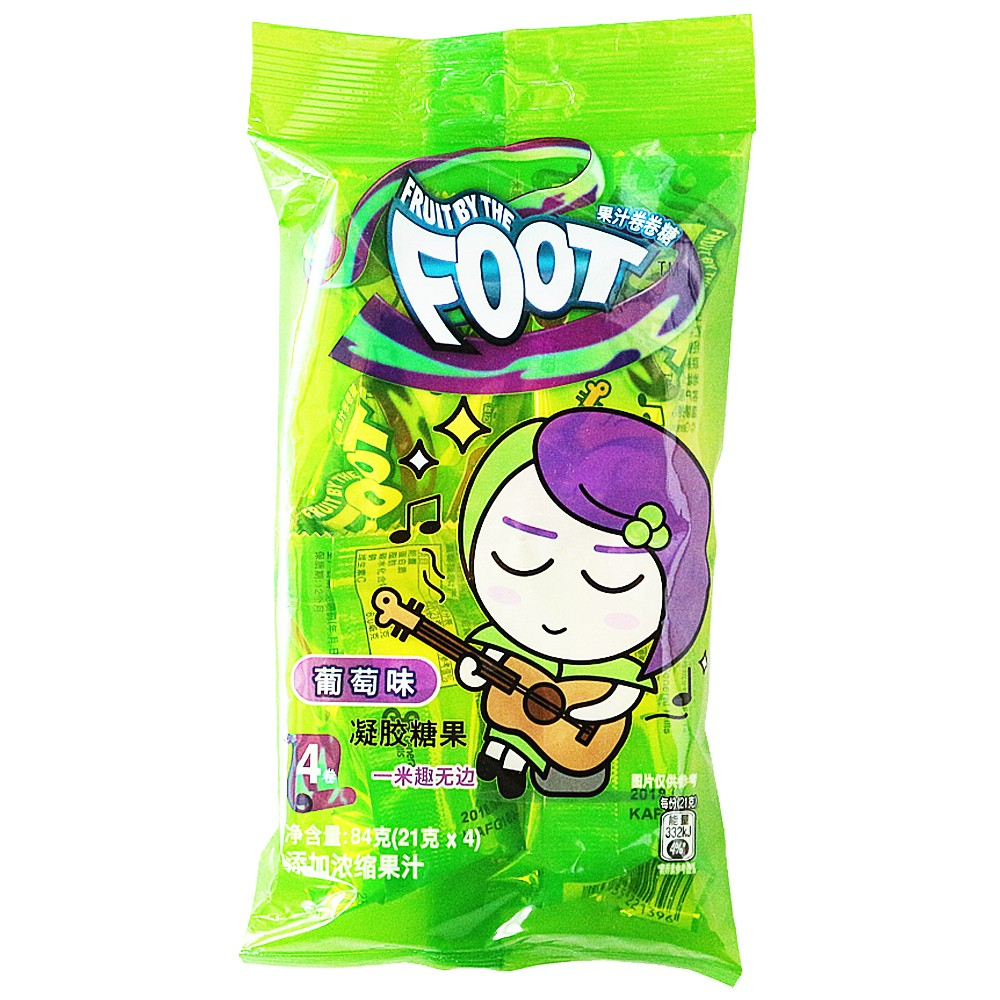 Fruit By The Foot Juice Candy Grape Flavor 84g