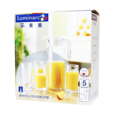 Luminarc Rotterdam 1L1 5Pc Drinkware Set