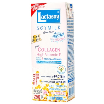 Lactasoy Calcium&Iron Less Sugar Soymilk 250ml