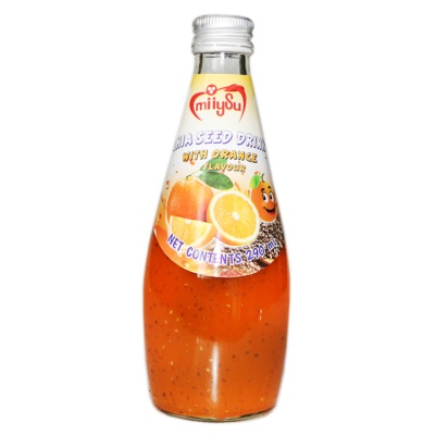 Miiysu Orange Flavour Chia Seed Drink 290ml