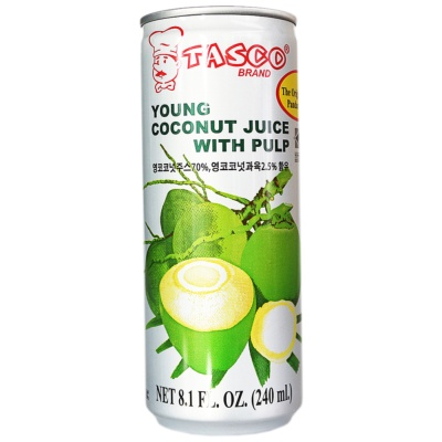 Tasco Young Coconut Juice With Pulp 240ml