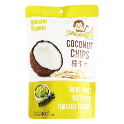 Crispconut Wasabi Flavor Coconut Chips 40g