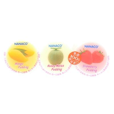 Nanaco Mango Melon Strawberry Pudding 240g