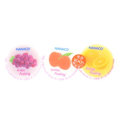 Nanaco Grape Lychee Orange Pudding 240g