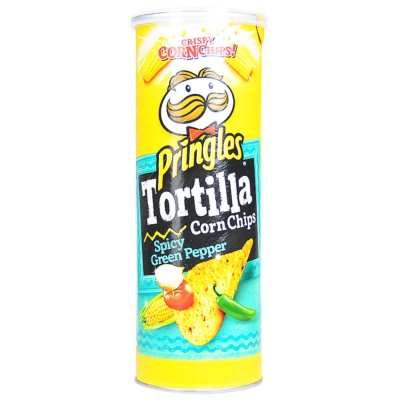 Pringles Tortilla Corn Chips (Spicy Green Pepper) 110g