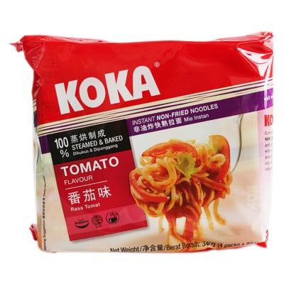 Koka Tomato Flavored Instant Non-Fried Noodles 4*85g