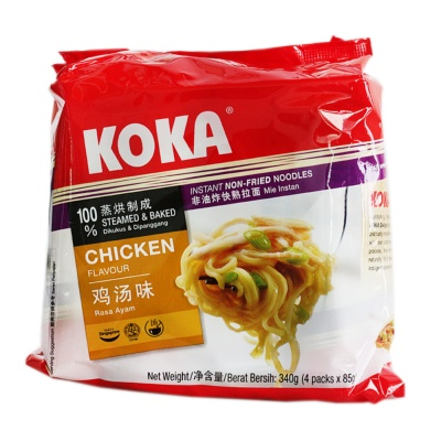 Koka Chicken Flavored Instant Non-Fried Noodles 4*85g