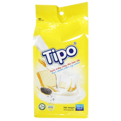 Tipo Black Sesame Cream Egg Cookies 135g