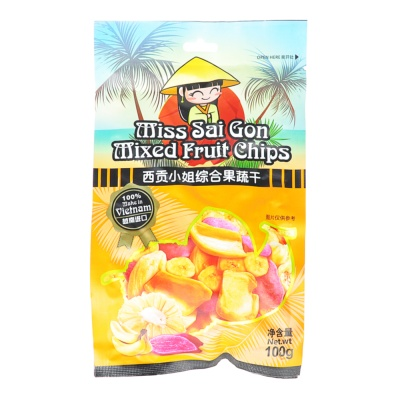 Miss Sai Gon Mixed Fruit Chips 100g