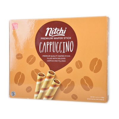 Nitchi Cappuccino Wafer Stick 100g