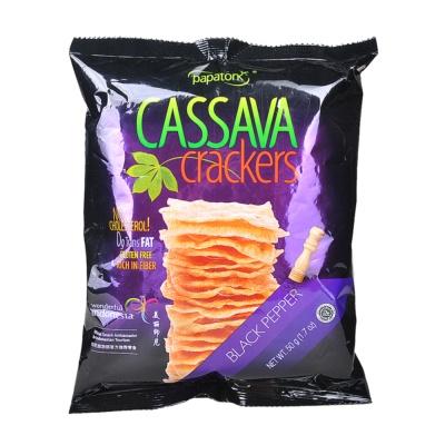 Papatonk Cassava Crackers Black Pepper Flavor 50g