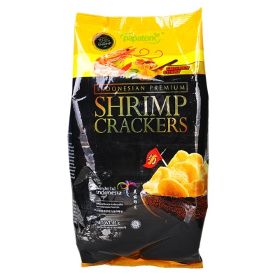 Papatonk Chicken Curry Flavor Shrimp Crackers 85g