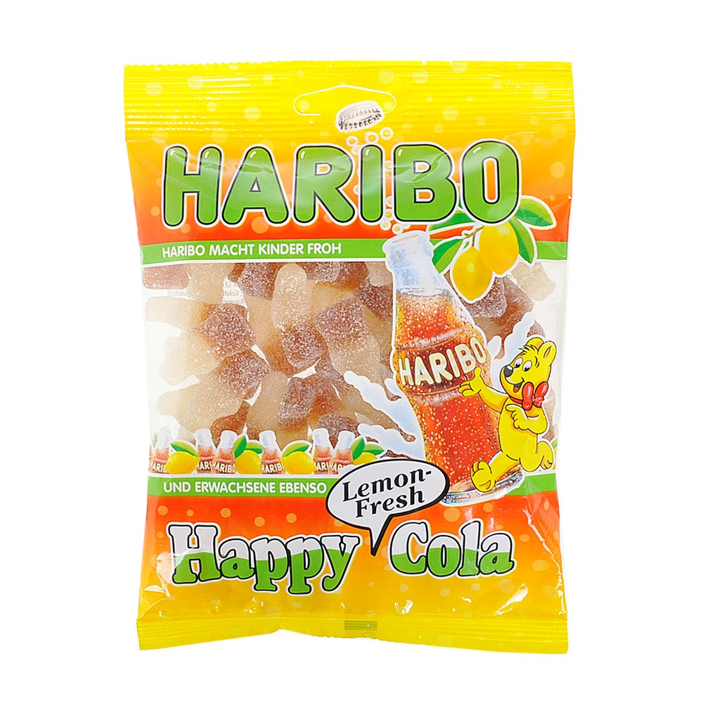 Haribo Lemon-Fresh Happy Cola Jelly Drops 200g
