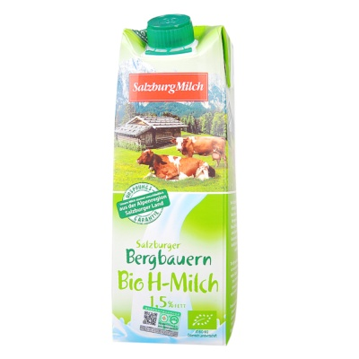 Salzbarger Organic Low Fat Milk 1.5% Fett 1L