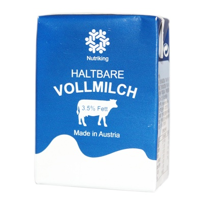Nutriking Haltbare Full Fat Pure Milk 200ml