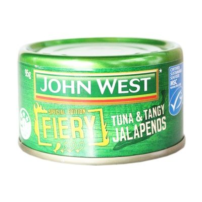 Johnwest Fiery Tuna & Tangy Jalapenos 95g