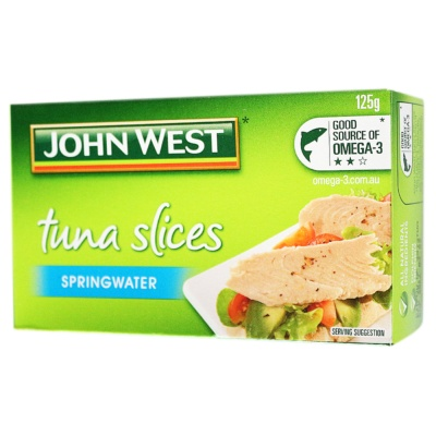 Johnwest Tuna Slices Spingwater 125g