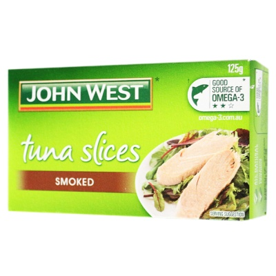 Johnwest Tuna Slices Smoked 125g