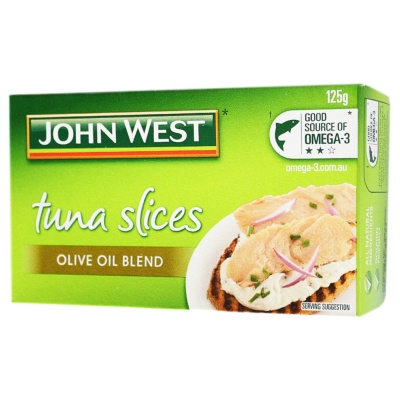 Johnwest Tuna Slices Olive Oil Blend 125g