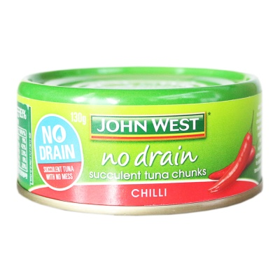 Johnwest No Drain Succulent Tuna Chunks Chilli 130g