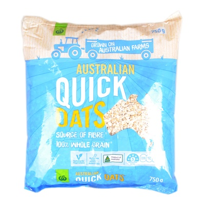 Woolworths Australian Quick Oats 750g