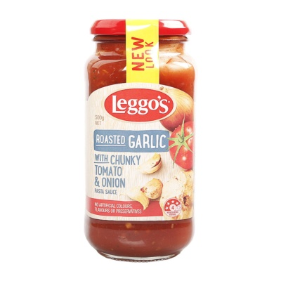 Leggo'S Roasted Garlic & Onion Pasta Sauce 500g