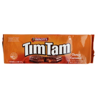 Arnott's Timtam Chewy Caramel Chocolate Biscuit 175g