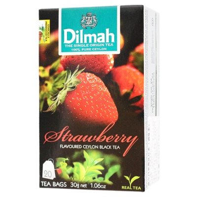 Dilmah Strawberry Flavoured Ceylon Black Tea 20*1.5g