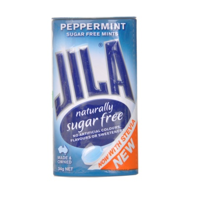 Jila Sugar Free Mints (Peppermint) 34g