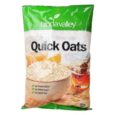 Binda Valley 100% Whole Grain Quick Oats 500g