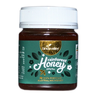 Binda Valley Rainforest Honey 250g