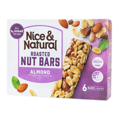 Nice & Natural Roasted Nut Bars (Almond) 192g