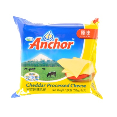 Anchor Cheddar Processed Cheese 250g