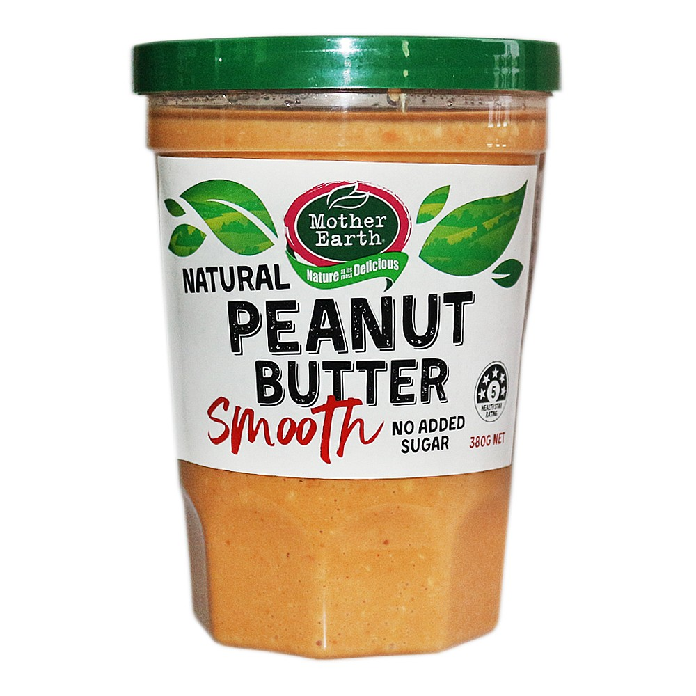 Mother Earth Natural Peanut Butter Smooth 380g