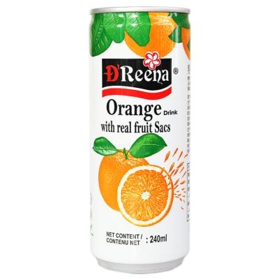 Dreena Orange Drink With Real Fruit Sacs 240ml
