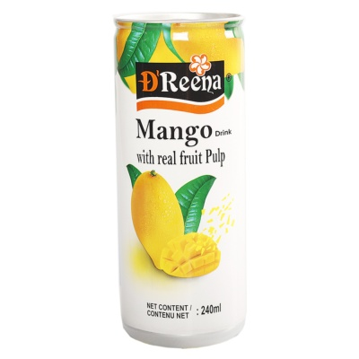 Dreena Mango Drink With Real Fruit Pulp 240ml