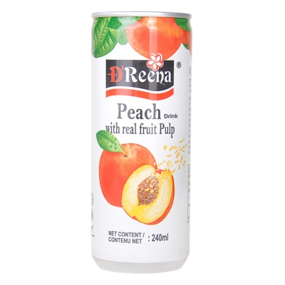 Dreena Peach Drink With Real Fruit Pulp 240ml