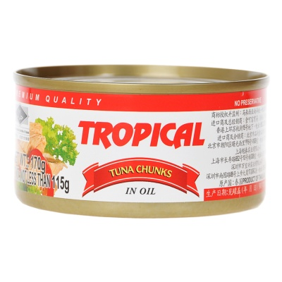 Tropical Tuna Chunks In Oil 170g