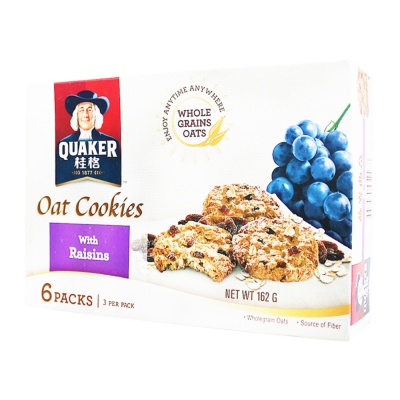 Quaker Oat Cookies With Raisins 162g