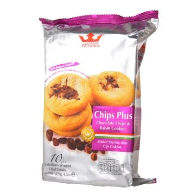 Tatawa Choco Chips & Raisin Cookies 120g